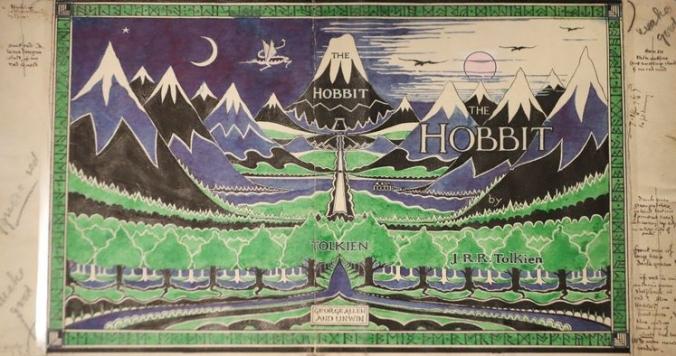 """Illustration de la première édition du """"Hobbit"""" réalisée par J.R.R Tolkien"""